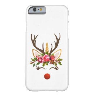 Capa Barely There Para iPhone 6 Flores do Antler/Natal da rena do unicórnio