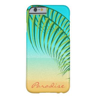 Capa Barely There Para iPhone 6 Folhas de palmeira tropicais praia abandonada