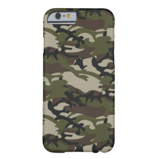 Capa Barely There Para iPhone 6 Forças armadas de Camo da floresta