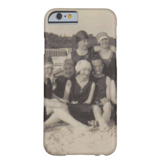 Capa Barely There Para iPhone 6 Fotografia 1920 do vintage do grupo de praia
