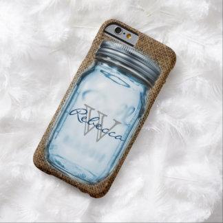 Capa Barely There Para iPhone 6 frasco de pedreiro customizável de serapilheira