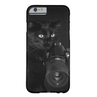 Capa Barely There Para iPhone 6 Gato com a câmera