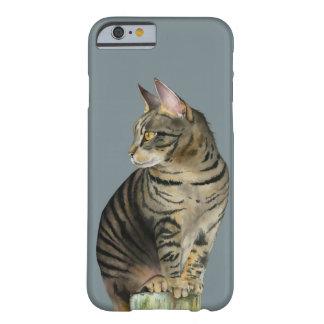 """Capa Barely There Para iPhone 6 """"Gato de gato malhado da vigia"""" na ilustração de"""