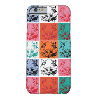 Capa Barely There Para iPhone 6 Gato do pop art