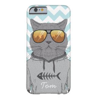 Capa Barely There Para iPhone 6 gato legal do gato do hipster no cobrir do