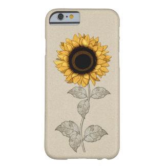 Capa Barely There Para iPhone 6 Girassol do ouro amarelo do vintage