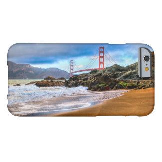 Capa Barely There Para iPhone 6 Golden gate bridge no por do sol