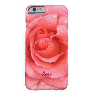 Capa Barely There Para iPhone 6 Gotas cor-de-rosa vermelhas românticas da água