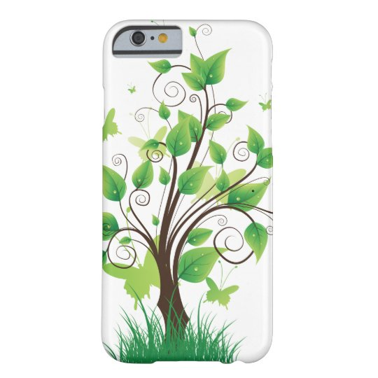 Capa Barely There Para iPhone 6 Green tree with butterflies
