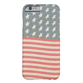 Capa Barely There Para iPhone 6 Grunge da bandeira dos Estados Unidos do vintage