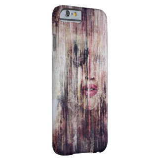 Capa Barely There Para iPhone 6 Grunge Girl Watercolor espécie Iphone Case