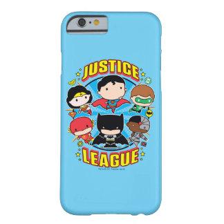 Capa Barely There Para iPhone 6 Grupo da liga de justiça de Chibi