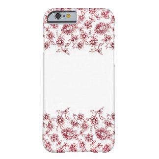 Capa Barely There Para iPhone 6 Grupos de flores cor-de-rosa