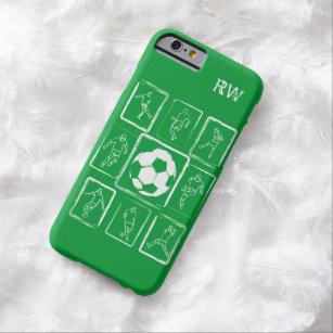 Capa Barely There Para iPhone 6 Habilidades pintadas personalizadas do futebol
