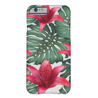 Capa Barely There Para iPhone 6 Hawaiian tropical adorável Hibiskus da palma