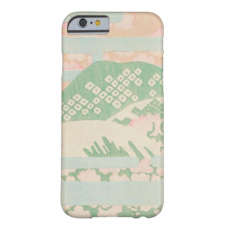 Capa Barely There Para iPhone 6 Hortelã japonesa do vintage floral