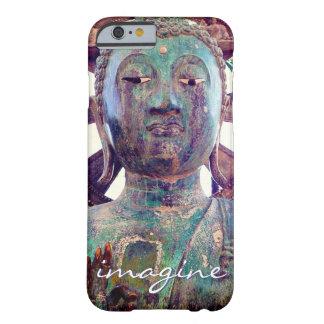"""Capa Barely There Para iPhone 6 """"Imagine"""" a foto asiática da cabeça da estátua de"""