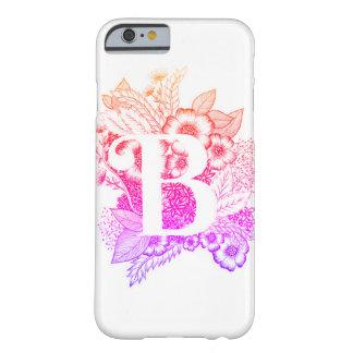 Capa Barely There Para iPhone 6 Impressão da letra B - alfabeto, caligrafia,