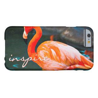 """Capa Barely There Para iPhone 6 """"Inspire"""" as citações bonitos, foto alaranjada"""