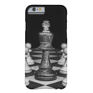 Capa Barely There Para iPhone 6 iPhone 6/6s, preto do caso da xadrez & branco