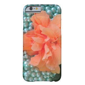 Capa Barely There Para iPhone 6 iPhone 6 hibiscus alaranjados na miçanga