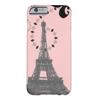 Capa Barely There Para iPhone 6 iPhone cor-de-rosa elegante 6 c da torre Eiffel de