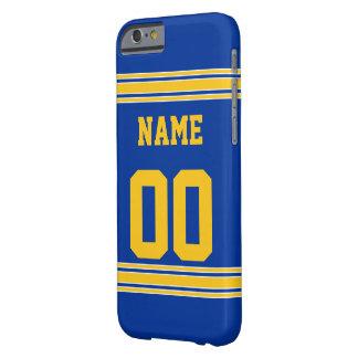 Capa Barely There Para iPhone 6 Jérsei do futebol com a área a personalizar