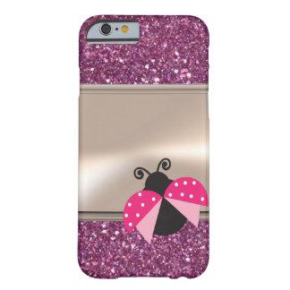 Capa Barely There Para iPhone 6 Joaninha bonito adorável em Glittery