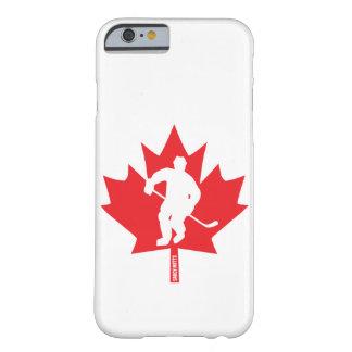 Capa Barely There Para iPhone 6 Jogador da folha de bordo do hóquei de Canadá