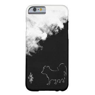 Capa Barely There Para iPhone 6 Kato e nuvens de séries pretas & brancas de