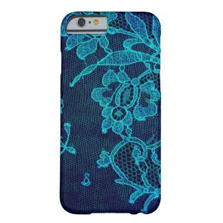 Capa Barely There Para iPhone 6 Laço gótico dos azuis marinhos do Victorian