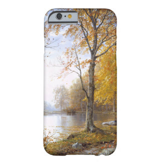 Capa Barely There Para iPhone 6 Lago forest em Automn