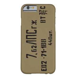 Capa Barely There Para iPhone 6 Lata do Spam da munição de AK-47 7.62x39