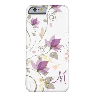 Capa Barely There Para iPhone 6 Lavanda roxa feminino Monogra floral