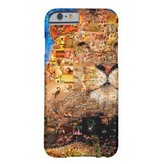 Capa Barely There Para iPhone 6 leão - colagem do leão - mosaico do leão - leão