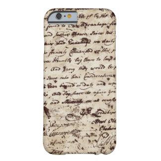 Capa Barely There Para iPhone 6 Letra velha escrita à mão do vintage