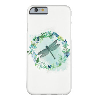 Capa Barely There Para iPhone 6 Libélula bonita com beira floral