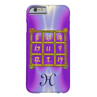 Capa Barely There Para iPhone 6 Lilac cor-de-rosa do MONOGRAMA do QUADRADO MÁGICO