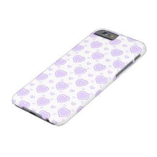 Capa Barely There Para iPhone 6 Lilac romântico & corações brancos