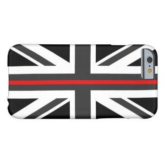 Capa Barely There Para iPhone 6 Linha vermelha fina bandeira do Reino Unido