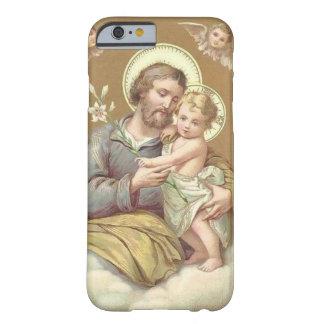 Capa Barely There Para iPhone 6 Lírio Cherubgs de Jesus de St Joseph & de criança