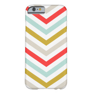 Capa Barely There Para iPhone 6 Listras coloridas de Chevron da seta