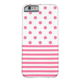 Capa Barely There Para iPhone 6 Listras & Polkadots - iPhone cor-de-rosa 6/6s,