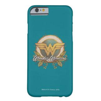 Capa Barely There Para iPhone 6 Logotipo do esboço da folha da mulher maravilha