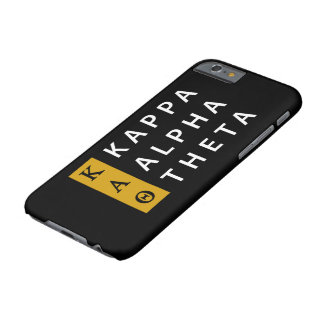 Capa Barely There Para iPhone 6 Logotipo empilhado   alfa da teta do Kappa