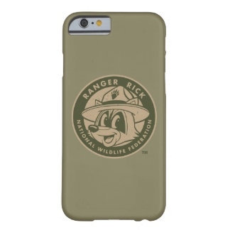 Capa Barely There Para iPhone 6 Logotipo Khaki do rick da guarda florestal do rick