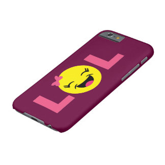 Capa Barely There Para iPhone 6 LOL feminino Emoji