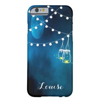 Capa Barely There Para iPhone 6 Lua azul com os frascos leves escuros da corda e