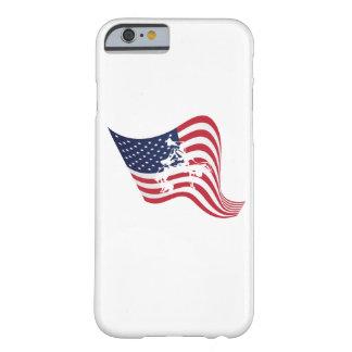 Capa Barely There Para iPhone 6 Luta do Wrestle do amor da bandeira americana
