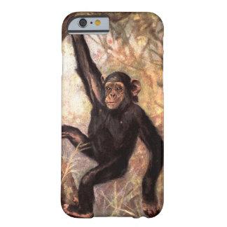 Capa Barely There Para iPhone 6 Macaco do chimpanzé pela cisne do CE, animais